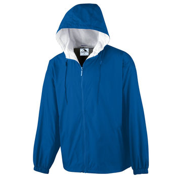 Augusta 3277 Hooded Taffeta Jacket/Flannel Lined - Royal