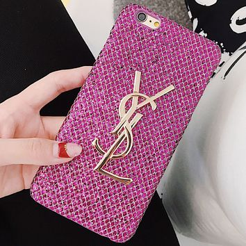 YSL Yves Saint Laurent Beautiful Fashion iPhone X Case Cover Rose red