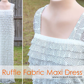 Long Ruffled Maxi Dress (using pre-ruffled fabric) | Make It and Love It