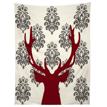 Natt Deer Damask White Tapestry