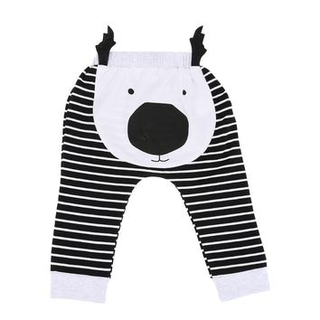 Cute Baby Harem Pants Lovely Cartoon Animal Pattern Casual Loose Trousers Boys Girls Bottom PP Long Pants 0-24 Month