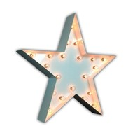 """24"""" Star Vintage Marquee Lights Sign (White Gloss)"""