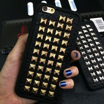 Soft TPU 3D Spikes Stud Phone Case Cover For iPhone 7 f5742eb473