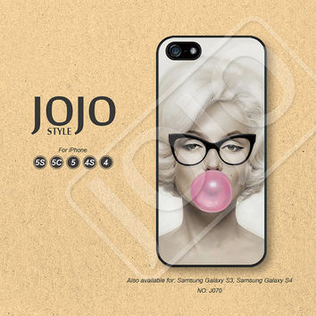 iPhone 5 Case, iPhone 5c Case, iPhone 4 Case, iPhone 5s Case, iPhone 4s Case, Marilyn Monroe, Phone Cases, Phone Covers - J070