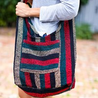 Hippie Beach Crossbody (Red/ Green)