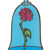 YESTERDAY'S CO. ENCHANTED ROSE ENAMEL PIN