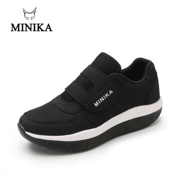 Unisex Women's Sneakers Platform toning Wedge Fitness zapatillas Old People sports shoes for Women Swing Shoes Slimming