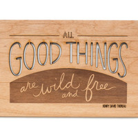 All Good Things Wooden Postcard