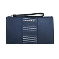 Michael Kors Saffiano Leather Micro Studded Clutch Wristlet