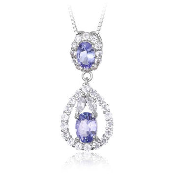 Always Positive, Natural Tanzanite  Necklace