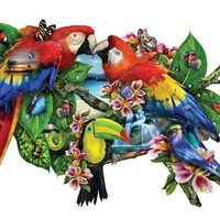 Parrots in Paradise a 1000-Piece Jigsaw Puzzle by Sunsout Inc.