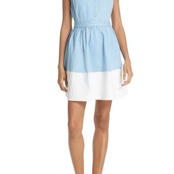 kate spade new york dip dye denim dress | Nordstrom