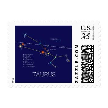 Constellation TAURUS unique, elegant Postage