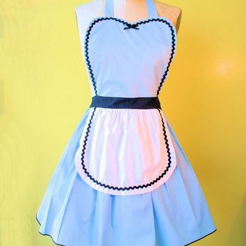 ALICE in WONDERLAND   Retro 50s Apron sexy by loverdoversclothing