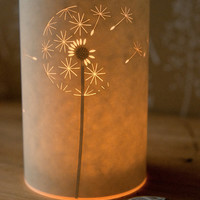 Dandelion Clock Candle Light
