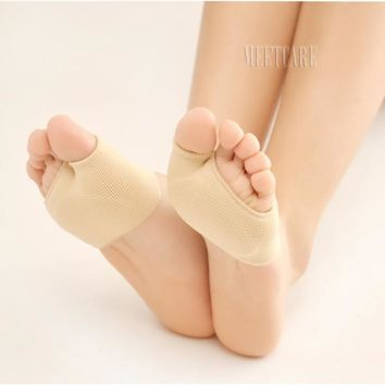 Socks Liners Toes Separated Forefoot Sleeve with Gel Pad Relieve Bunion Feet Pain Hallux Valgus Orthotics Overlapping Correction