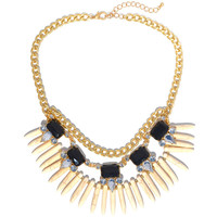 Ivory Tribal Spikes Necklace