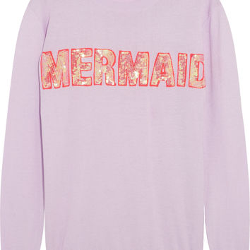 Markus Lupfer - Mermaid sequined cotton-blend sweater