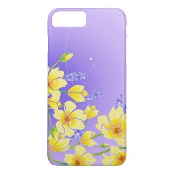 Yellow Bloom Flowers iPhone 8 Plus/7 Plus Case