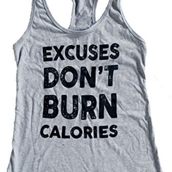 Cool Miami Design's Women's Excuses Don't Burn Calories Tank Top