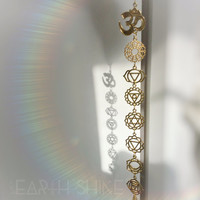 OM Chakra Crystal window hanger, your choice of crystal, meditation room, decoration