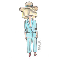 Little Sia in a Hat Illustration