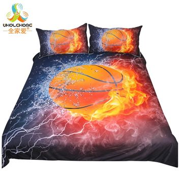 Basketball Decorative Bedding Set Soft King Queen Sport Style Duvet Cover for Adult Kids Quilt Cover 3 Pcs Luxury Home Textile