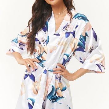 Pretty Robes Floral Satin Robe