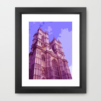 Westminster Abbey in London Framed Art Print by cycreation