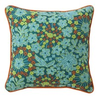 Xhilaration® Print Embroidered Decorative Pillow - Turquoise