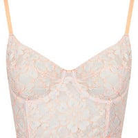 Fluro Corded Lace Bralet - Railroad  - Clothing