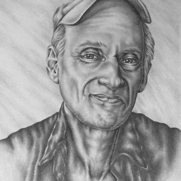 Personalized portrait drawing one person pencil sketch portrai