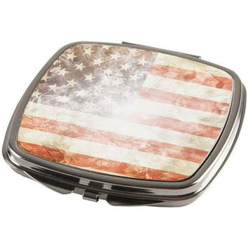 PEAPGQ9 4th of July American Flag Star Spangled Banner Compact