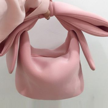 Pink Bowknot Handle Bag