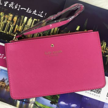 ... new high quality e0763 f3da5 Kate Spade classic womens fashionable fine  leather clutch bag color zipper ... 26d5c5afd77a