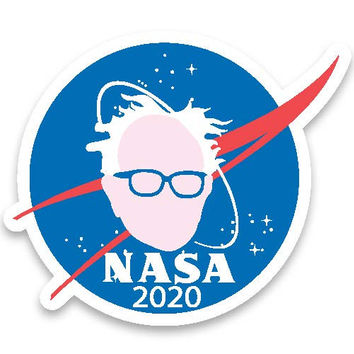 NASA for Bernie Sanders President 2020 seal logo sticker decal