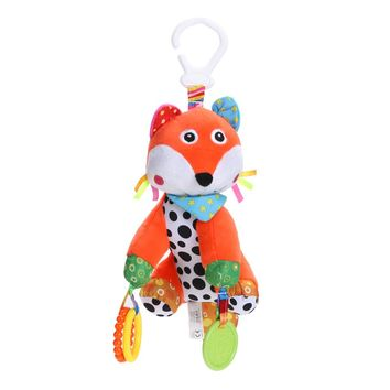 Baby Kids Plush Fox Toys Teether Educational Hanging Musical Toys Soft Plush Stuffed Toy for Children Bed Crib Stroller Soft Toy