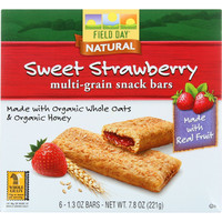 Snack Bars - Organic - Multi-Grain - Filled - Sweet Strawberry - 6/1.3 oz - case of 6