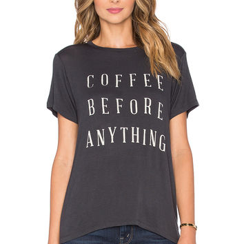 DAYDREAMER Coffee Before Anything Tee in Coal