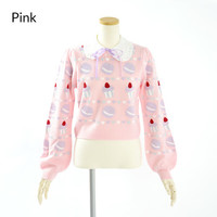 Swankiss Sweets Collared Sweater
