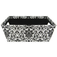 Black & White Damas Patterned Box with Cut-Out Han | Hobby Lobby | 238873