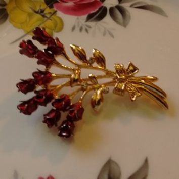 Vintage Rose Pins/Brooches:  3 Styles