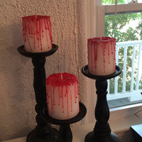 Blood Drip Candles for Halloween