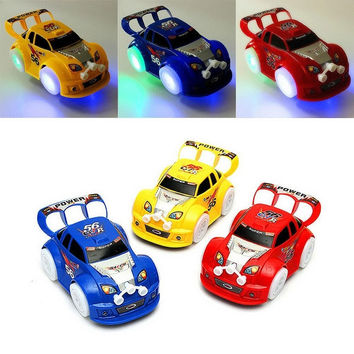 Kid Toys Christmas Automatic Steering Flashing Music Racing Car Electric Toy Car = 1945686404