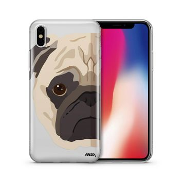 The Pug Case - Clear TPU Case Cover