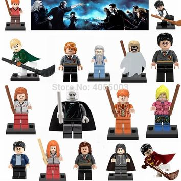 Legoings Harry Potter Action Figures Hermione Granger Ron Lord Voldemort Legoing Draco Malfoy Blocks Friends Toys for Kids Gifts