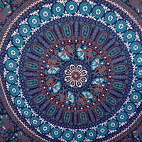 Round floral elephant bedspread tapestry wall hanging room divider table throw