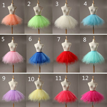Multi Color In Stock Short Petticoats For Wedding Dress Accessories 2016 Cheap Bridal Crinoline Tulle Underskirt Free Shipping