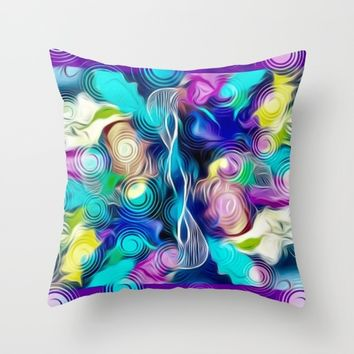 Voice Throw Pillow by violajohnsonriley