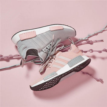 Adidas Originals Nmd Women Pink/Grey Leisure Running Sports Shoes
